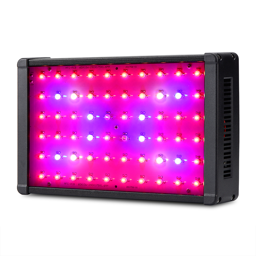 Amats Full Spectrum LED Grow Lights 600W Plant Grow Light Hydroponics for Greenhouse Plants Veg and Flowering Growing Lights LED 300w grow led light ufo full spectrum 277leds smd5730 plant grow lamp for hydroponics system aquarium grow tent flowering