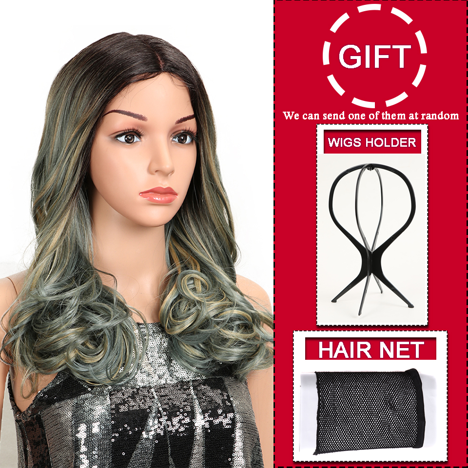 MAGIC Hair Synthetic Lace Front Wigs For Black Woman Ombre Natural Wave 20 quot Inch Bob Wigs Heat Resistant I Part Wig For Women in Synthetic Lace Wigs from Hair Extensions amp Wigs