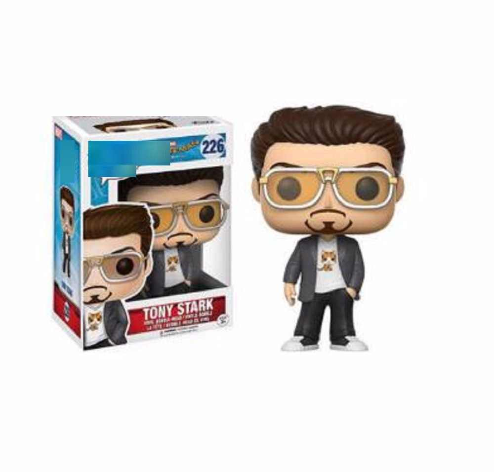 Marvel avengers4 Spider-Man Homecoming iron man tony stark model figure toy 226# ironman pop Collection for Children fans Dolls