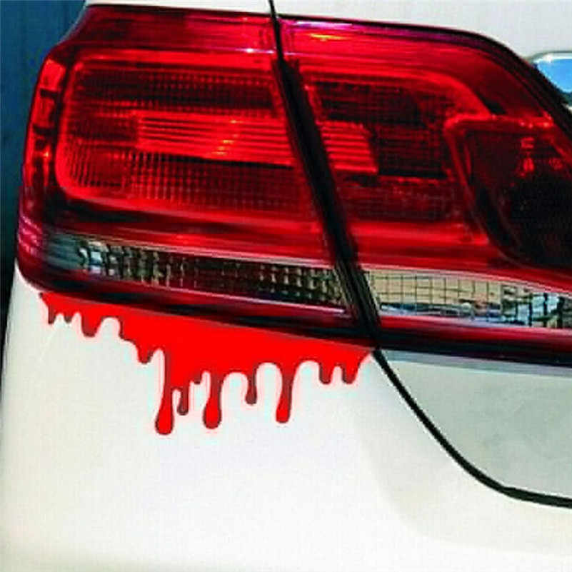 Car Sticker Hot Sale Car Truck Decal Red Blood  Chrome Car Light Bumper Body Sticker Removable personalize Skull Stickers  #F