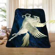 P#110 Custom Horse#19 Home Decoration Bedroom Supplies Soft Blanket size 58×80,50X60,40X50inch SQ01016@H+110