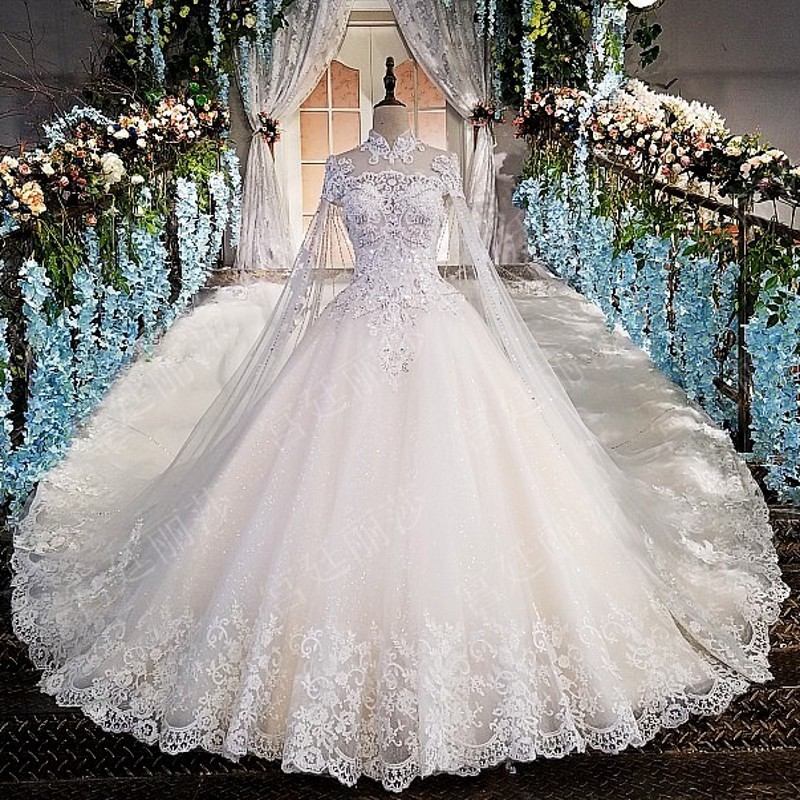 Pina Wedding Gown: Aliexpress.com : Buy High Neck Backless Lace Ball Gowns