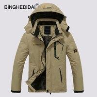 BINGHEDIDAI 2017 Men S Jackets Waterproof Spring Hooded Coats Men Women Outerwear Army Solid Casual Brand