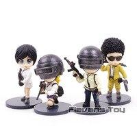 PUBG Playerunknown's BattleGrounds Q Version PVC Figures Collectible Model Toys Nendoroid Dolls 4pcs/set