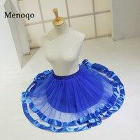 Short Vintage Petticoat Skirt Tutu Half Slips For Women Formal Dress Blue Pink Brown 2017 In