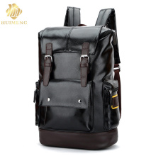 2017 Men Laptop bags Mochila Backpack 15.6 Inch high quality leather men backpack shoulder bag Schoolbag computer Travel bag high quality men backpack zipper solid men s travel bags canvas shoulder bag computer bag masculina bolsa school bags