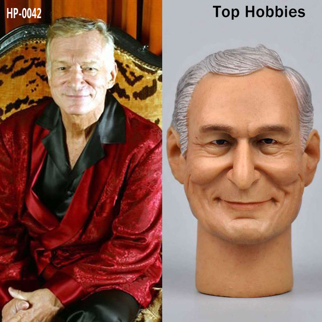Headplay 1/6 Male military Soldier Head Sculpt HP-0042 Hugh M. Hefner Men Carving Model Fit 12Inch Phicen Action Figure Toy DolL
