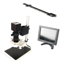 VGA output Video digital Microscope Camera +8X-130X C-Mount Lens Zoom +8 inch LCD monitor screen for SMD PCB phone repair цены