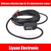 1 pcs Difusão tipo reflexivo fotoelétrico sensor CX 421/CX421 interruptor fotoelétrico