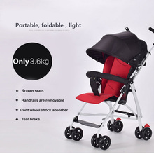 Baby Trolley Umbrella Mini Pram Car Portable Folding Pushchair Child Weightlight Four Wheels Kids Stroller Carriage For Newborns ultra light folding rainbow umbrella infant stroller car shock absorbers four wheels baby stroller baby carriage pram