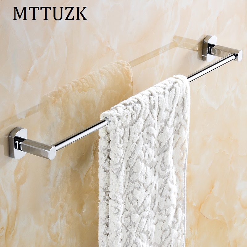 Mttuzk brass chrome wall mounted bathroom towel holders - Bathroom towel holders accessories ...