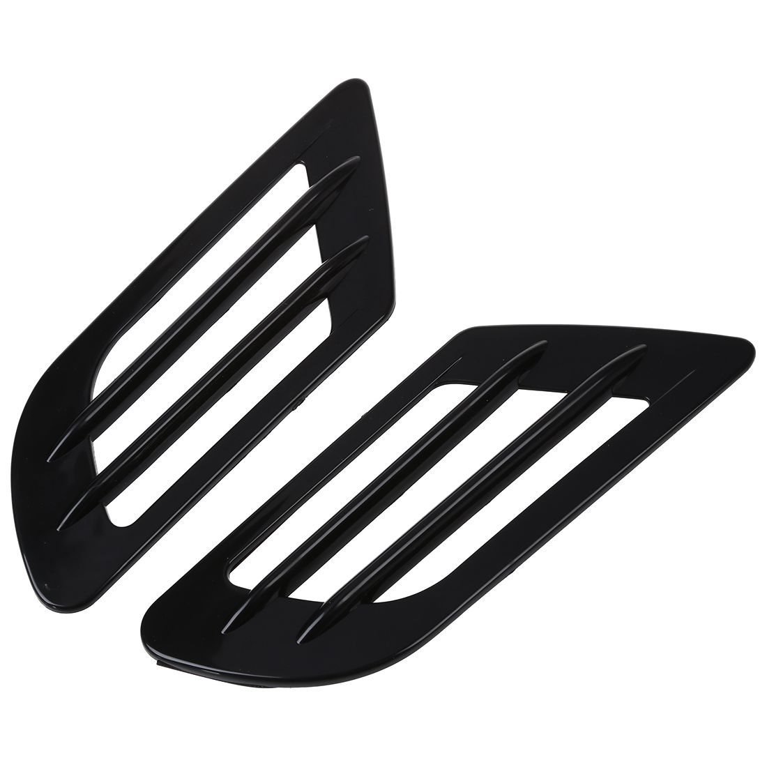 Car Side Air Flow Vent Hole Cover Fender Intake Grille Duct Decoration Sticker Black 2017 chromed abs plastic car side air vent fender cover sticker for toyota camry solara celica celsior century corolla fielder
