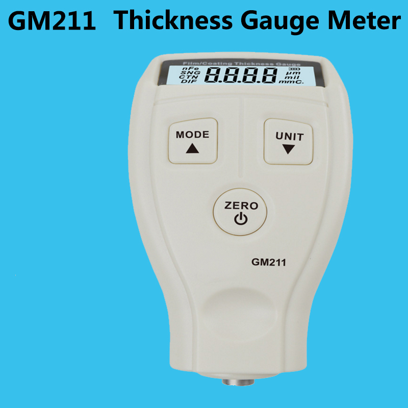 GM211 Thickness gauge meter Digital High-precision automotive paint detector Glass Plastic Metal plate thickness gauge benetech gm211 high precision coating thickness gauge 0 1500um magnetic and non magnetic car automotive compound thickness meter