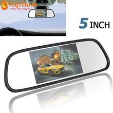 5 Pulgadas 480×272 Color TFT LCD Monitor Del Espejo de Coche amplio Ángulo de Visión de Coche Espejo Retrovisor Monitor Del Coche de Visión Trasera Inversa Monitor