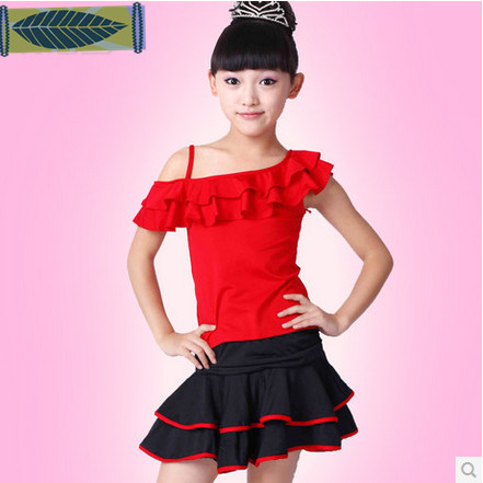 High Quality Fall And Winter Children S Ballroom Stage Clothing Latin Dance Dresses Sleeve Dress Perfoming
