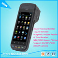 i5000s Handheld Mobile POS Terminal With Industrial Touch Screen 2D Barcode Scanner And Camera Printer,Card Reader
