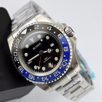 43mm black dial Ceramic Bezel Luminous GMT Date Automatic Men's Watch Date&day Classique Relogio Feminino Blanc Femmes Dames