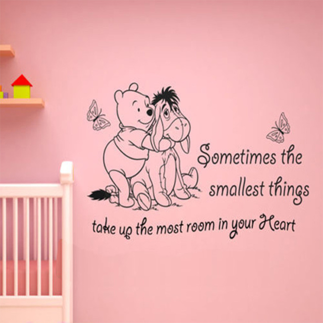 Vinyl Classic WINNIE THE POOH WALL ART QUOTE STICKER   GIRL BOY KIDS  NURSERY LOVE DECAL Part 38
