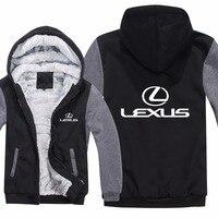 Lexus Hoodies Jacket Winter Mans Unisex Casual Wool Liner Fleece Man Coat Lexus Logo Sweatshirts Pullover