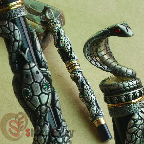 JINHAO OLD GREY POWER SNAKE WIND ROLLER BALL PEN SNAKE YEAR COMEMMORATE sally bee the secret ingredient family cookbook