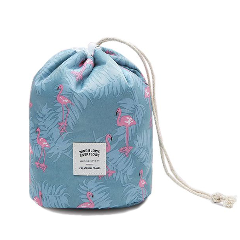 Travel Flamingo Drawstring Cosmetic Bag Lazy Make Up Case Organizer Storage Makeup Pouch T