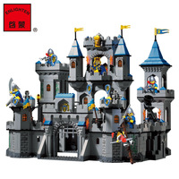Building Block Set Compatible With Enlighten 1023 Medieval Lion Castle Knight Carriage Model Bricks Toys For