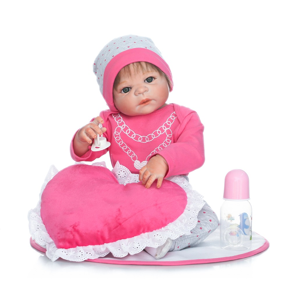 Full silicone reborn real dolls lifelike newborn girl babies for child bathe shower bedtime toy doll collection bebes bonecas  Full silicone reborn real dolls lifelike newborn girl babies for child bathe shower bedtime toy doll collection bebes bonecas