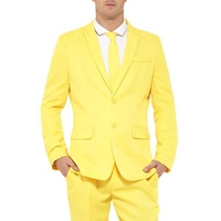 Yellow Men Suits for Prom Mens Stage Clothes 2019 Notched Lapel Wedding Tuxedos 2 Piece Jacket Pants Latest Male Blazer