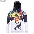 Newsosoo very cool trend fashion youth hooded hoodies men 3D fummy Graffiti painted men's Harajuku hooded sweatshirts H4