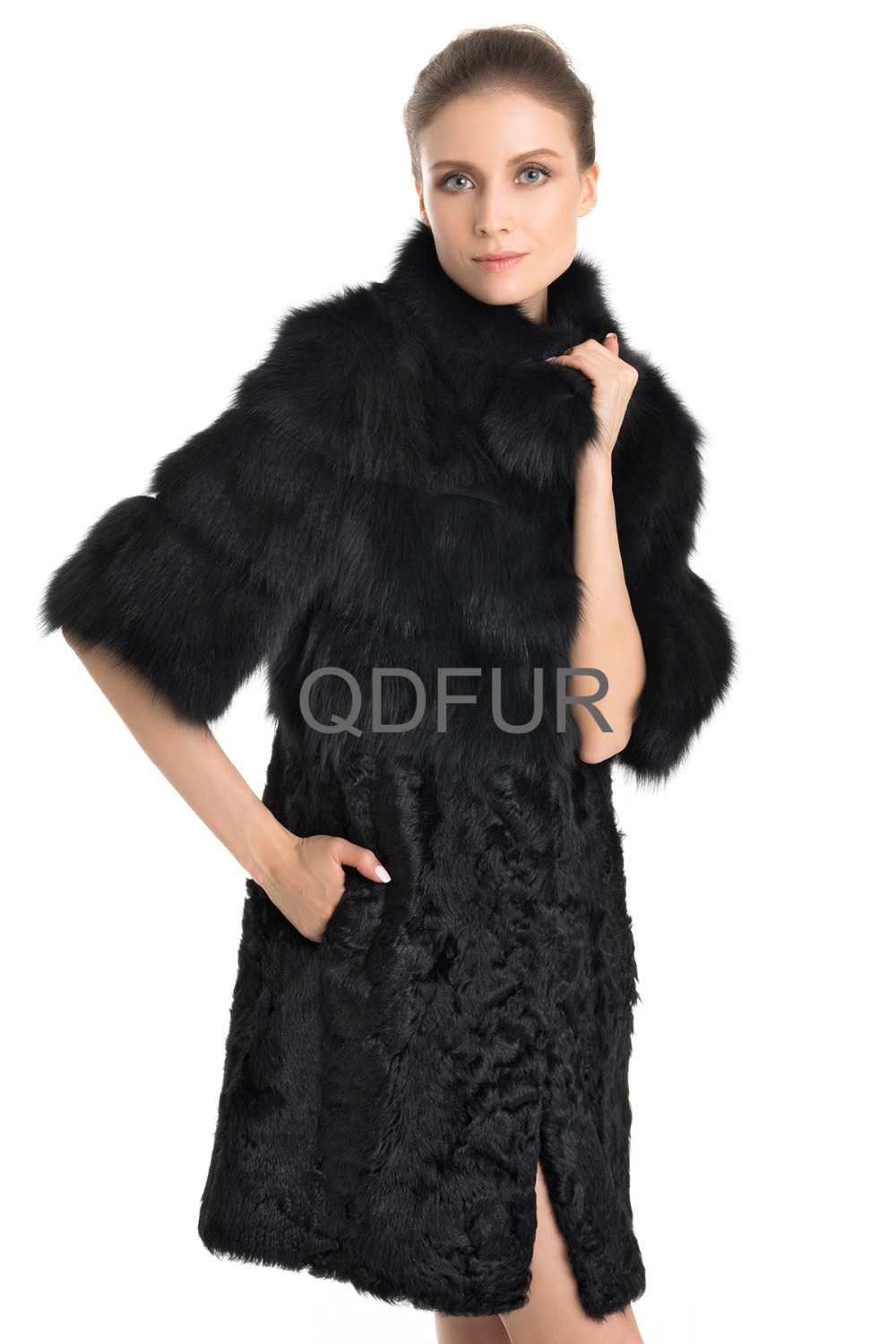Aliexpress.com : Buy Women Fashion Genuine Real Fox Fur Coats ...