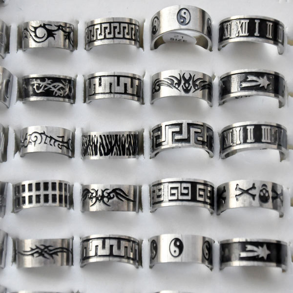 12pcslot wholesale lot men rings stainless steel black stainless 12pcslot wholesale lot men rings stainless steel black stainless steel wedding rings for women mozeypictures