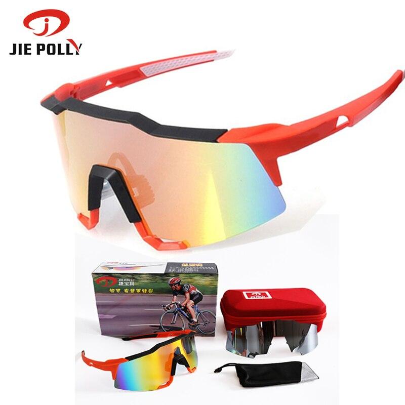 Цена за Цзе полли 100% speedcraft велоспорт солнцезащитные очки поляризованные велосипедные очки спорт на открытом воздухе goggle gafas ciclismo bicicleta 7 цвета