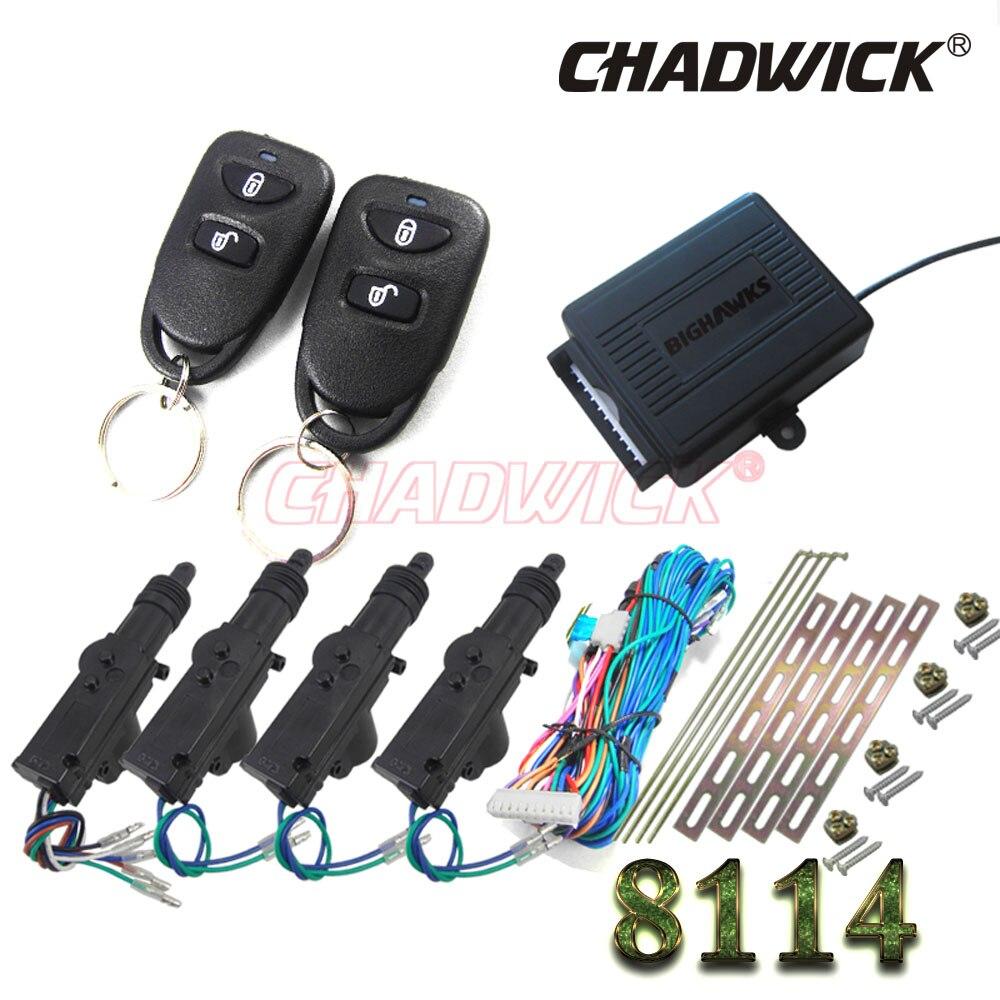 Simple 2 bouton universel voiture télécommande centrale serrure de porte avec actionneur kit système de verrouillage automatique moteur CHADWICK 8114 DC 12 V
