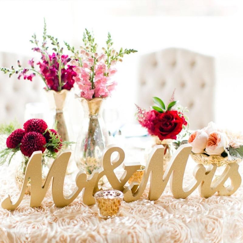 Мистер и миссис знак для свадьбы Милая Таблица, стоя мистер и миссис буквы, толстые Mr & Mrs знак набор 3 шт./компл.