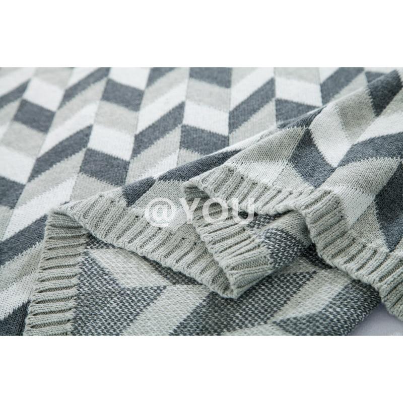 Rayas de punto mantas de lana diamante manta para sofá Oficina Coral ...