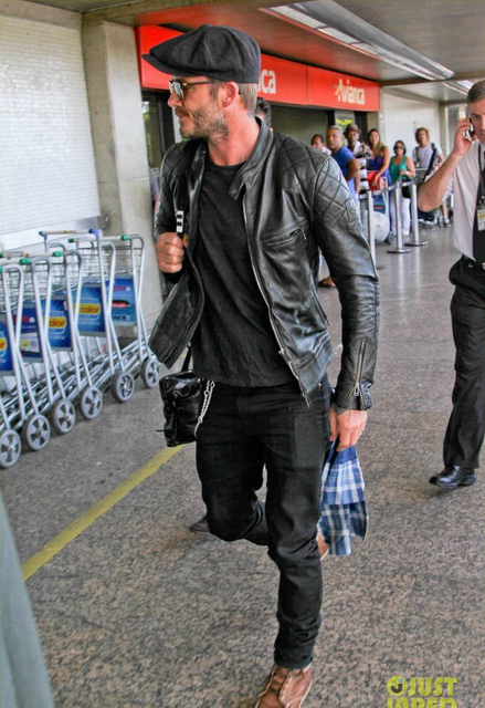 David Beckham Genuine Leather Jacket Man Fashion Slim Real Cow Leather Black Short Leather Suede Motorcycle Jaquetas De Couro