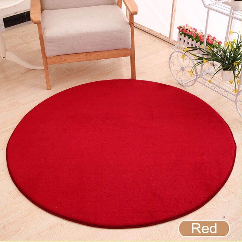 ONEONEY 80*80 простые приветственные круглые коврики с принтом для ванной, кухни, коврики для гостиной, противоскользящие - Цвет: 03