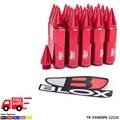 Blox 20Pcs 12X1.25 Spiked Aluminum 60MM Extended Tuner Wheels Rims Lug Nuts Racing Jdm TK-550NSPK-12125-FS