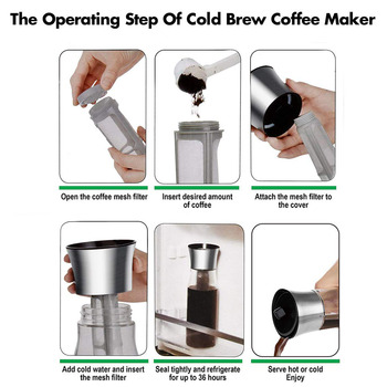 Coffee Maker Pot Mocha Cold Brew Cafetera Filter Coffee Pot Leakproof Thick Glass Tea Infuser Percolator Tool Espresso Maker 3