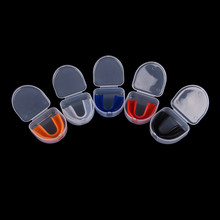 1 Set New Shock Sports Mouthguard Mouth Guard Teeth Protect for Boxing Basketball Top Grade Gum Shield(China)