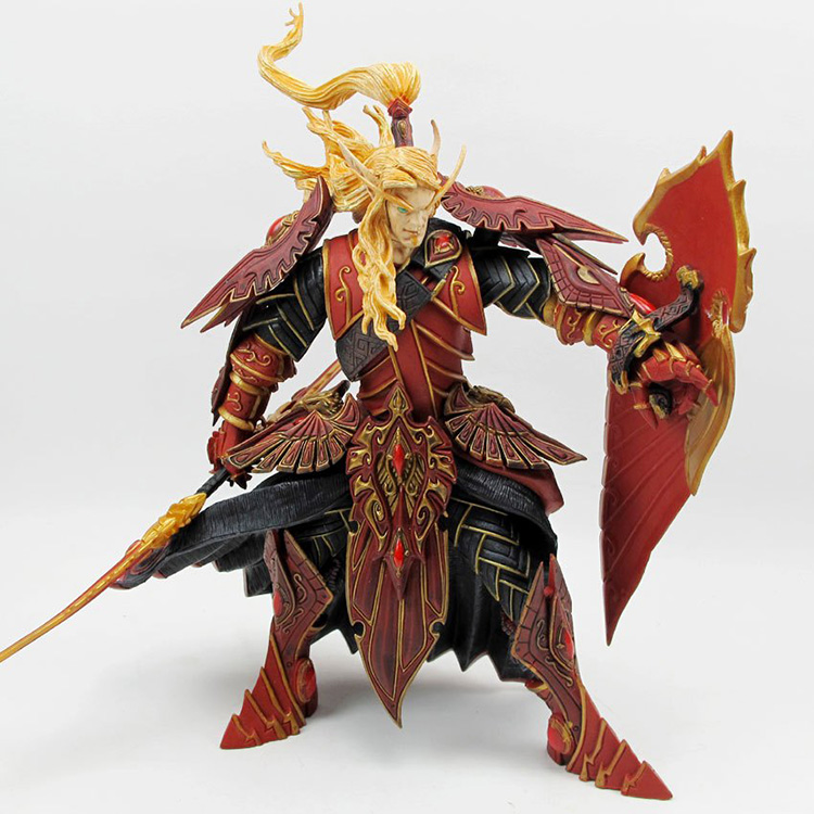 BLOOD ELF PALADIN: QUIN'THALAN SUNFIRE Action Figure Collectable Model Toy genuine original online game character terran blood elf paladin spell breaker model doll ornaments