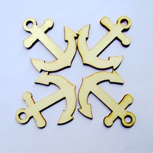 Free shipping 40*32mm 80pcs/bag wholesale high quality pendant die cutting Angle  wooden Christmas decorations 017001040