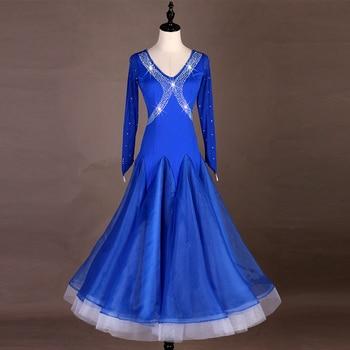Ballroom Dance Dress Lady's Elegant Long Sleeve Waltz Tango Dance Costume Women Ballroom Competition Dancing Dresses