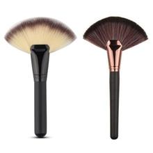 2016 New Pro Fan Shape Blush Make Up Brushes Tool Face Powder Soft Foundation Blending Cosmetic Brusher Pincel Maquiagem YO6