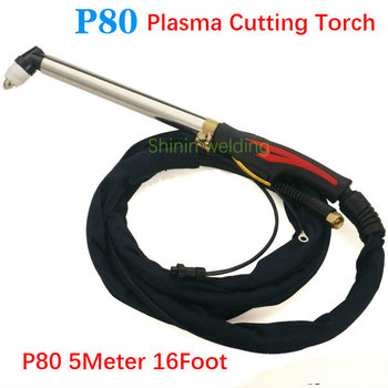2020 new P80 extended plasma torch complete torch cutting iron stainless steel LGK-80/100 curved handle torch 5meter 16Foot