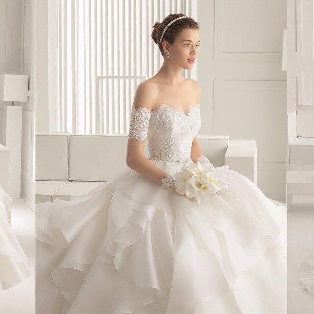 Fashionable Wedding Gowns 2017 : Aliexpress.com : buy designer fashionable sexy half sleeve wedding