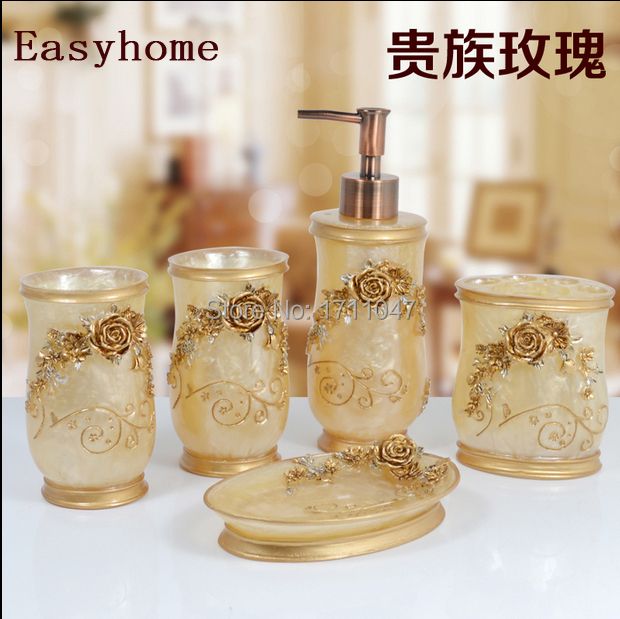 Aliexpress Com Free Shipping 6 Pieces Set Eating Standard Best Resin Material European Luxurious Fancy Bathroom Accessories Sets From