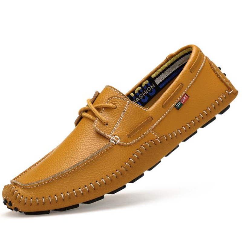 Big Size 36~47 High Quality Genuine Leather Men Shoes Soft Moccasins Loafers Fashion Brand Men Casual Flats Comfy Driving Shoes  men luxury brand new genuine leather shoes fashion big size 39 47 male breathable soft driving loafer flats z768 tenis masculino
