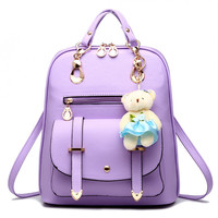 ZHIERNA 2017 Fashion New Spring Summer Schoolbag For Teenage Girls High Quality Women Backpack PU Leather