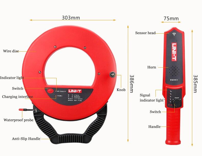 ut661b diagnóstico-ferramenta scanner pipeline bloqueio encanadores instrumento